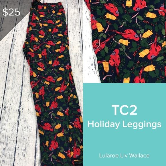 0d2aae36a4f517 LuLaRoe Pants | Christmas Cardinals Tc2 Leggings | Poshmark